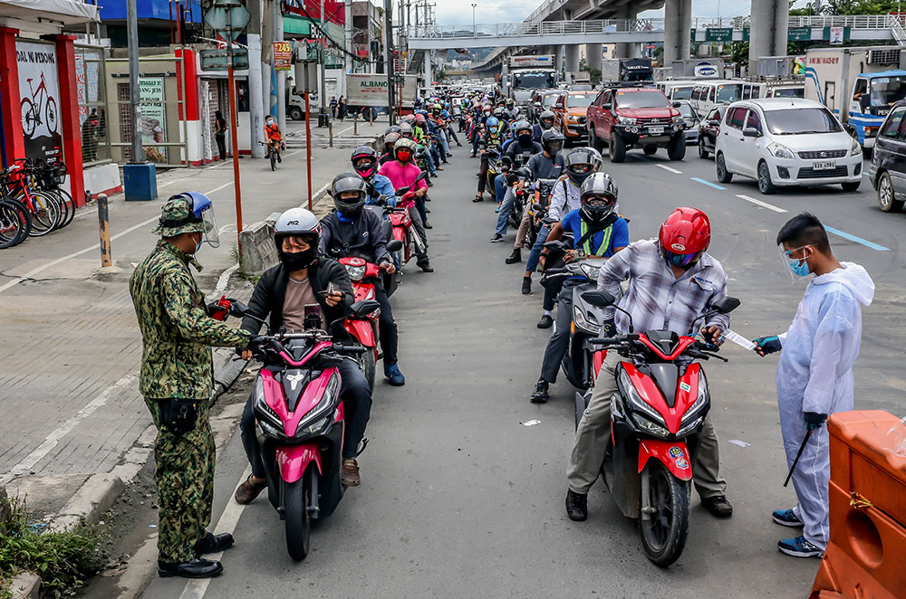 Motorcycle checkpoint Philippines