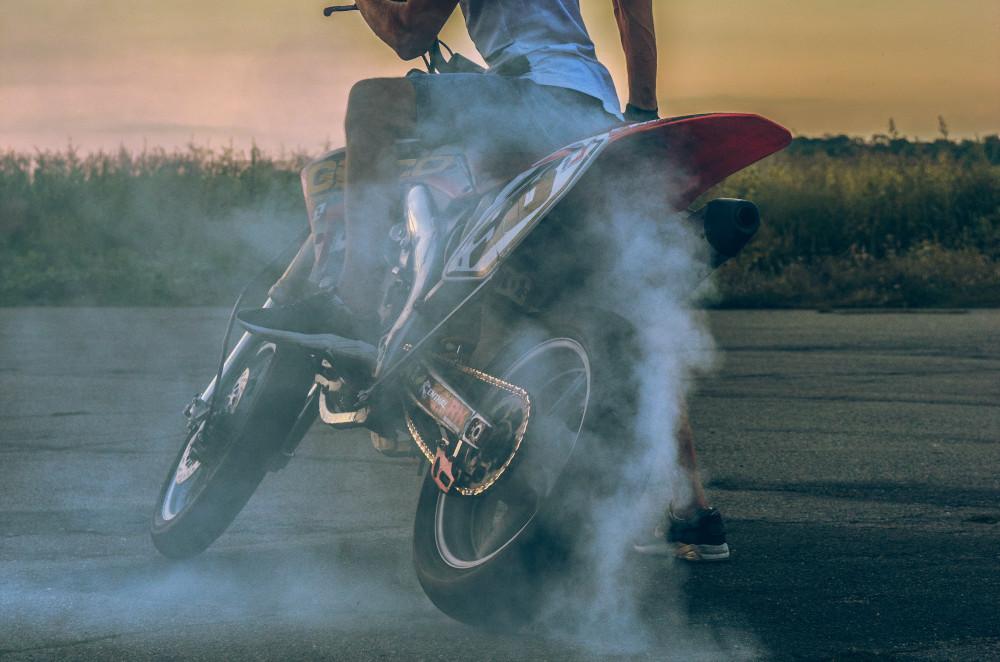 Motorcycle Power Burnout