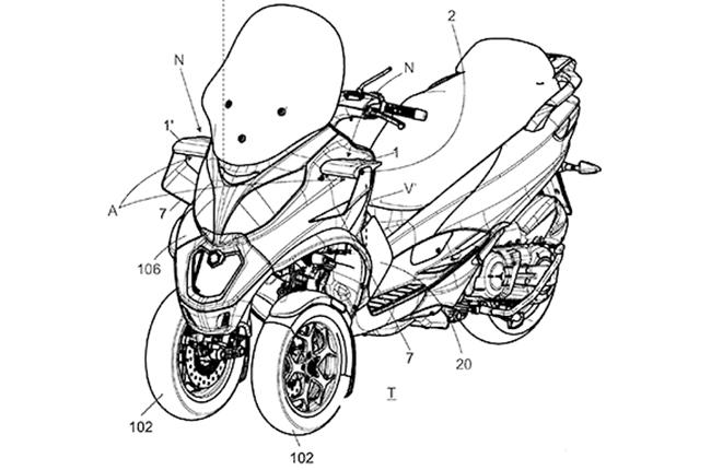 Piaggio Grops Active Aero Patent