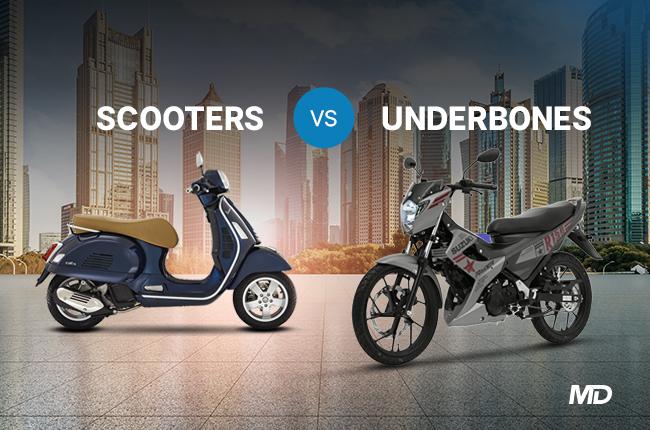 Scooters vs Underbones