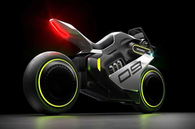 Segway Unveils Electric Hydrogen Hybrid Concept Motorcycle