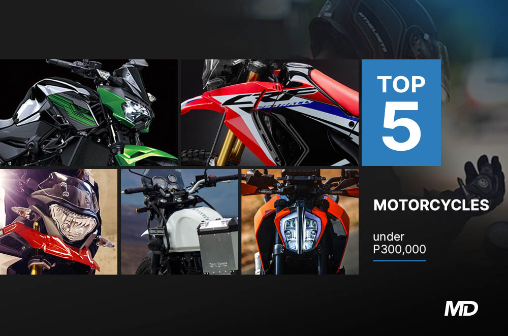 Top 5 Motorcycles Under P300,000