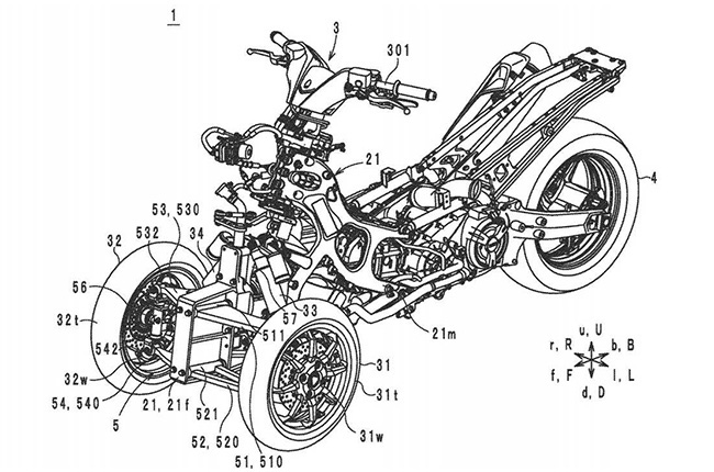 Yamaha Leaning Multi-wheel Patent