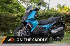 BMW C400X - on the saddle