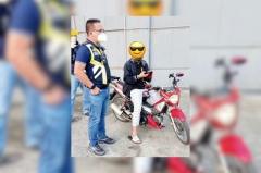 Bong Nebrija catches rider on sidewalk