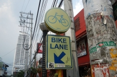 Can I use a bike lane on a motorcycle?