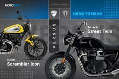 Ducati Scrambler Icon versus Triumph Street Twin - Head to head
