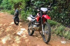 Honda XR150L and Keeway Cafe 152