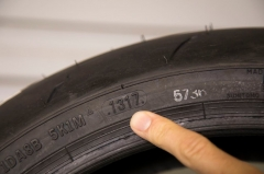 How to check motorcycle tires age