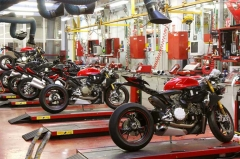 Italian motorcycle production line