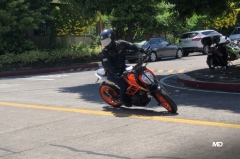 KTM 390 Duke low speed