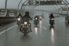 Motorcycle Rain Riding