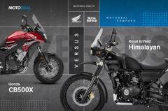 Royal Enfield Himalayan Versus Honda CB500X