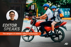 The dangers of children riding a motorcycle – Editor Speaks