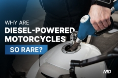 Why are diesel-powered motorcycles so rare?