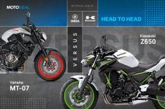 Yamaha MT-07 versus Kawasaki Z650 - Head to head