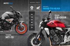 Yamaha MT-10 versus Honda CB1000R - Head to head