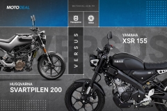 Yamaha XSR 155 vs Husqvarna Svartpilen 200 Comparo - Behind a Desk