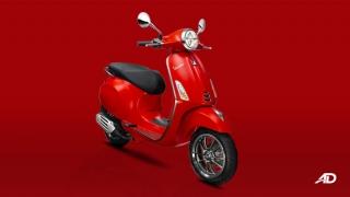 2020 Vespa Primavera 150 Sport front red