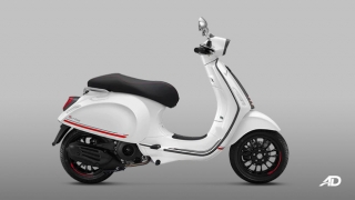 2020 Vespa Sprint 150 Carbon Edition White