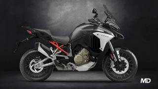 2021  Ducati Multistrada V4 S SW Grey side profile Philippines