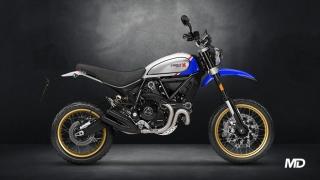 2021 Ducati Scrambler Desert Sled Sparkling Blue side profile Philippines