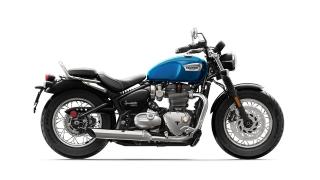 2020 Triumph Bonneville Speedmaster side Cobalt Blue/Jet Black