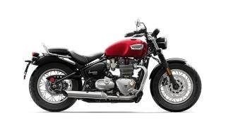2020 Triumph Bonneville Speedmaster side Cranberry Red